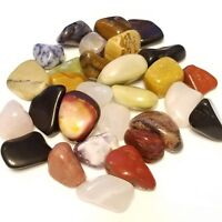 15-25 large colorful Mixed Natural Assorted bulk tumbled Gemstone mix 1/2lb