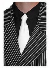 White Al Capone Tie Pimp Gangster Mob Bugsy Malone Fancy Dress