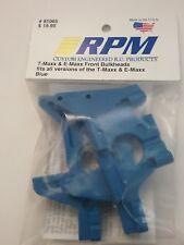 RPM 81065 T-Maxx And E-maxx Front Bulkheads Blue New