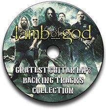 57 LAMB OF GOD STYLE ROCK METAL GUITAR MP3 BACKING TRACKS CD ANTHOLOGY LIBRARY