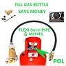 MINI M10 LPG Filling Point to Calor Gas Propane Bottle 6 Meters FLEXI pipe