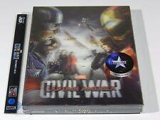 Captain America Civil War (3D+2D) Blu-ray Steelbook Novamedia Lenti #105/700