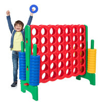 Jumbo 4-to-Score 4 in A Row Giant Game Set Adults Kids Family Fun Indoor Outdoor