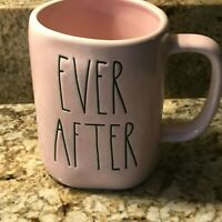 Rae Dunn EVER AFTER Valentine PINK Mug LL BLACK  Brand New