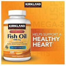 Kirkland Signature Omega-3 Fish Oil 1000 mg 400 ct (EXP 06/19) ****NEW****