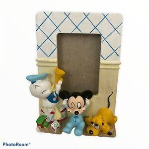 Vintage Disney Baby Picture Frame Donald, Mickey & Pluto The Walt Disney Company