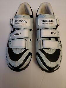 Shimano Women's SH-WM-61 Mountain Bike Shoes Black Aqua Size 7.2 Cycling Biking