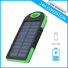 External 5000mAh Sun Solar Power Bank Battery Phone Chargeur iPhone Samsung LG