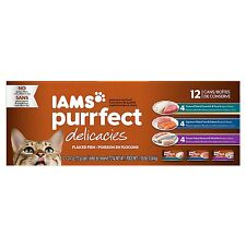 Iams Purrfect Variety Pack Canned Cat Food Purrfect Delicacies Flaked Fish Pack