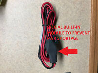 CB RADIO Power Cord w/ 3-Pin Plug /16 Gauge Fused Link SPECIAL VOLTAGE PROTECT