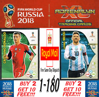 PANINI WORLD CUP 2018 Adrenalyn XL ☆ Team Mate ☆ Football Cards #1 to #180