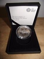 The silver jubilee of her majesty the Queen £ 5.00 pounds silver proof coin