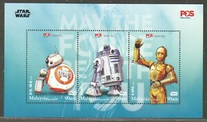 MALAYSIA 2019 STAR WARS THE RISE OF SKYWALKER SPECIAL SOUVENIR SHEET OF 3 STAMPS