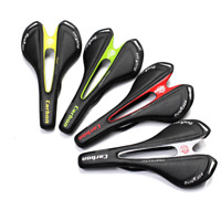 Carbon Fiber Road Bike Saddle Real Leather Comfort Racing MTB Bicycle Soft Seat