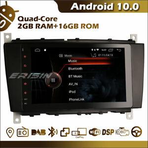 CarPlay Android 10.0 Head Unit Mercedes-Benz C-Class W203 CL203 GPS WiFi DAB+ BT