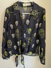 Vintage Havana Skull blouse women's shirt size Medium (A)