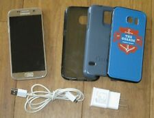 SAMSUNG GALAXY S7 SM-G930R6 Verizon T-Mobile Unlocked +3 Cases Gold GUC PLS READ