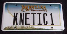 """MONTANA VANITY LICENSE PLATE """" KNETIC 1 """" KINETIC ENERGY POWER SCIENCE"""
