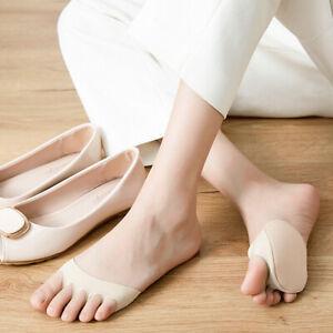 Invisible Anti-slip Ice Silk Open Toe Socks Foot Pad Half Socks Sock Slippers