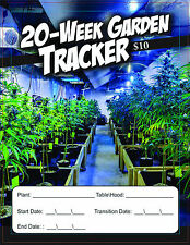 Cannabis Garden Tracker 20-Week 32-Page Indoor Garden Journal For Marijuana