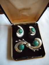 Vintage sterling Mexico brooch and earnings set