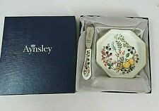 Boxed Aynsley Butter Dish & Knife - 'Somerset' Design