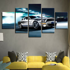 Ford Mustang Shelby GT500 Car 5 Pieces Canvas Wall Art Poster Print Home Deco