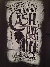 Johnny Cash T Shirt Medium Black