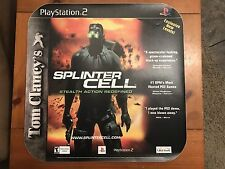 Playstation 2 Tom Clancy's Splinter Cell Store Display Window Cling Sign Poster