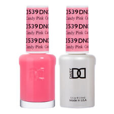 DND Daisy Duo Gel W/ matching nail polish lacquer - CANDY PINK- 539