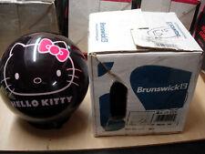 16(15#15oz) TW 2.8 Brunswick HELLO KITTY BLACK Polyester VIZ A BALL Bowling Ball