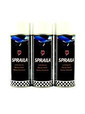Lackspray 3x400ml Sprühlack weiss glänzend Spraydose Autolack Spraila K300004