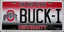 NCAA Aluminum License Plate Ohio State Buckeyes NEW BUCK I Made in USA