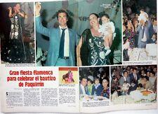 ISABEL PANTOJA y PAQUIRRI => RECORTE de prensa 2 PAGINAS  (año 1984)