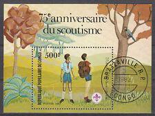 Kongo Block 29 75 Jahre Pfadfinder gestempelt