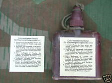 """REPRODUCTION GERMAN WWII GAS ATTACK """"HAUTENTGIFTUNGSALBE 41"""" LABEL"""