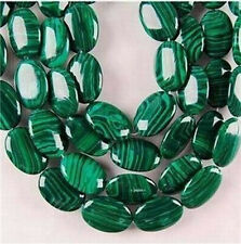 13X18mm Colorful Green Malachite Oval Turquoise Gemstone Loose Beads 15""