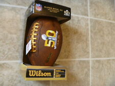 SUPER BOWL 50 COMMEMORATIVE FOOTBALL NEW IN BOX PEE WEE WILSON
