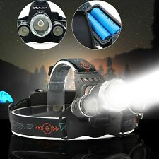 Elfeland 30000LM 3x T6 LED Torcia Lampada Frontale Bicicletta+2X18650 headlamp