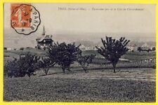 cpa TRIEL sur SEINE en 1910 (Yvelines) Panorama pris de la CÔTE de CHEVERCHEMONT