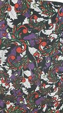 NWT LuLaRoe Large Cassie Skirt Purple Red Green Leaves on Black Paisley Dots L