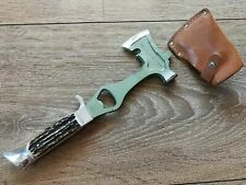 Othello Solingen Axe Hatchet Multi Tool 1960 Vintage Germany Camping Stag Handle