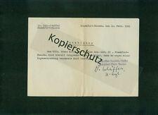 2. Weltkrieg Luftwaffe Bestätigung Magenerkrankung Frankfurt/Main-Hausen 1941