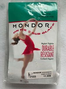 Mondor Durable 70 Denier Footed Skating Tights Suntan Sz M, New in Package, 3345