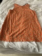 Bnwt Marks & Spencer Orange Linen Blend Dress Tunic Size 22