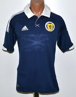 SCOTLAND NATIONAL TEAM 2011/2012 HOME FOOTBALL SHIRT JERSEY ADIDAS SIZE S ADULT