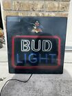 Vintage rARe BUD LIGHT Neon Look Light  Beer Sign BUDWEISER