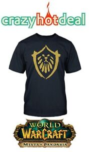Uomo `S T-Shirt World Of Warcraft Mop - Alleanza - Mists Pandaria XL - Nuovo /