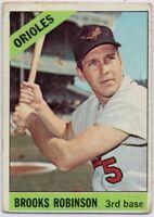 1966 Topps #390 Brooks Robinson Low Grade Crease Baltimore Orioles FREE SHIPPING