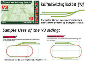 Kato N Gauge Unitrack (V3) Sidings Track Set